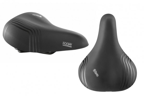 Sattel Selle Royal Roomy Classic schwarz,Unisex,277x215mm,relaxed,ca.715g