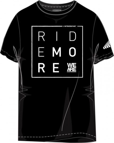 "Haibike T-SHIRT ""Ride More"" schwarz Gr.S"