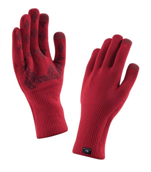 Handschuhe SealSkinz Ultra Grip Road rot Gr.S (7-8)