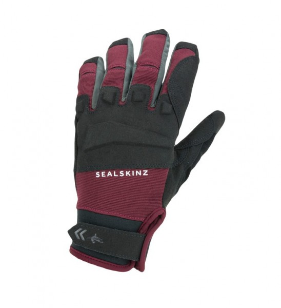 Handschuhe SealSkinz All Weather MTB Gr.S (7-8) schwarz/rot