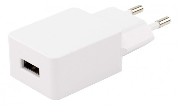 USB Home Charger HyCell 1A 1-Port weiß, für Smartphone/Handy u. USB Geräte