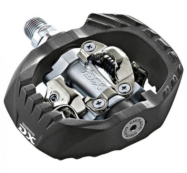 "SPD MTB-Pedal Shimano PDM647 zweiseitig, silber, 9/16"", mit Cleats"